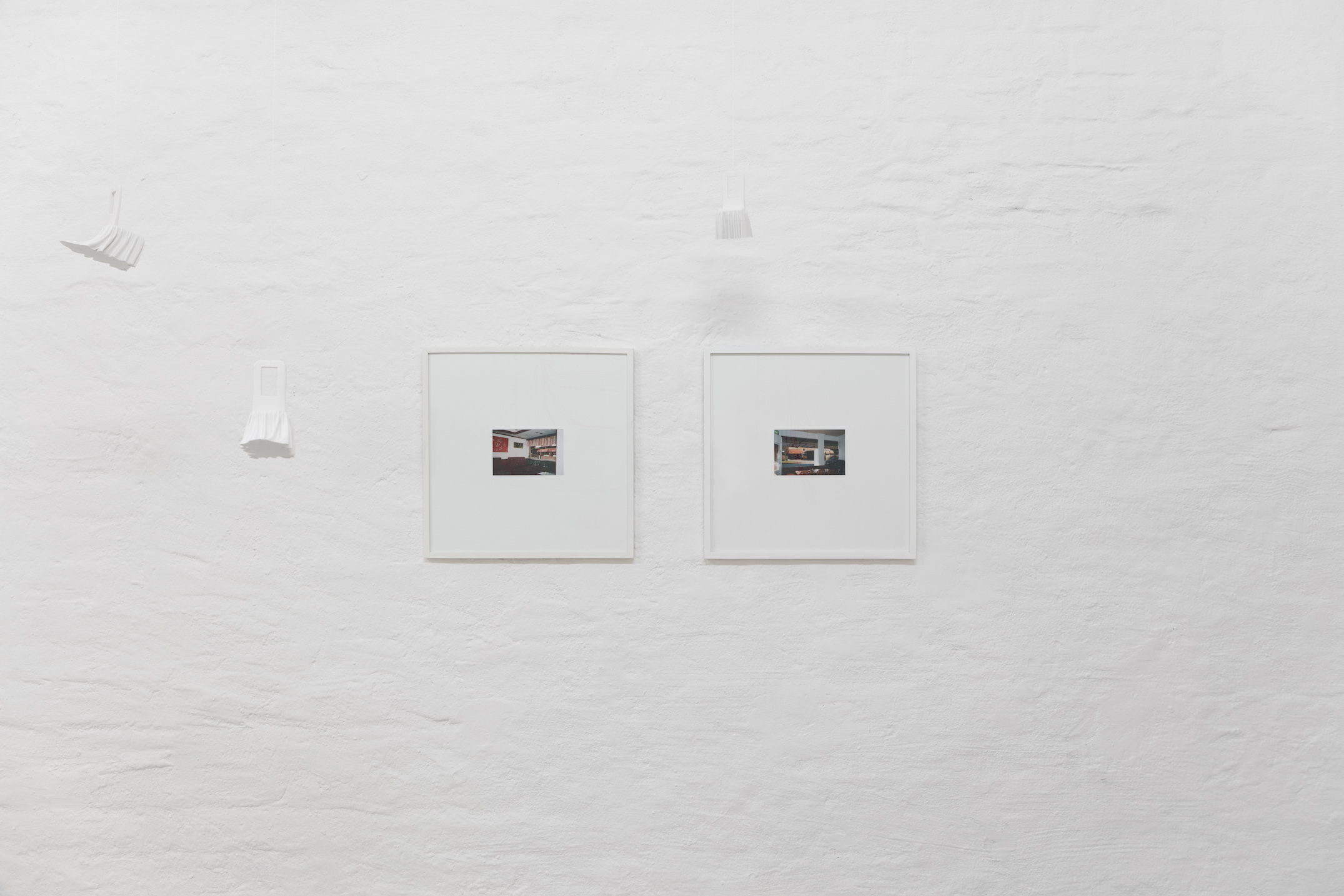 Lap-See Lam, Phantom Banquet Chair, 2019 , Polylactide; Wang with a View of Winner House, 2015, Montage; Winner House with a View of Ho Wah, 2015, Montage