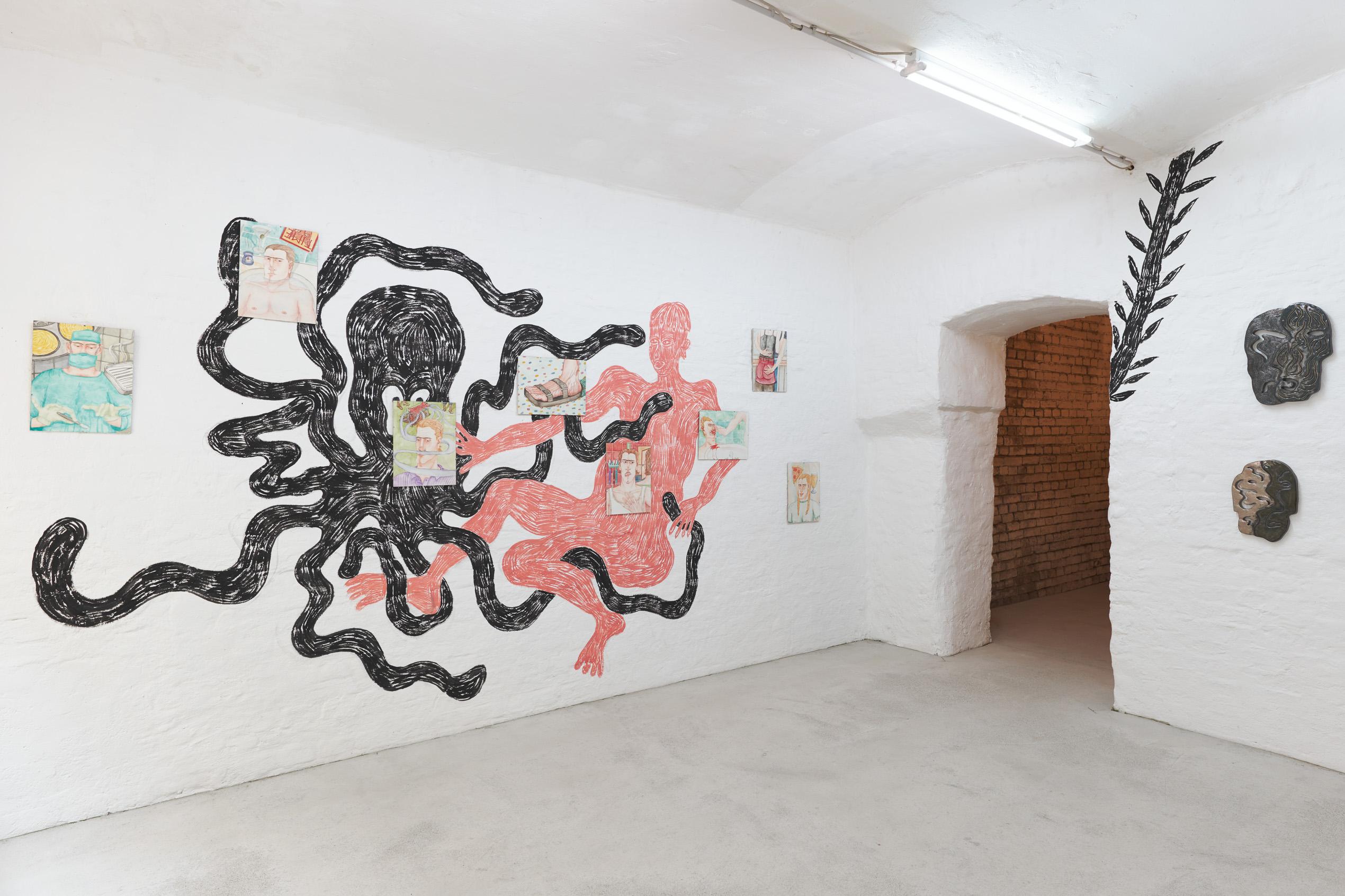 Exhibition view (Rade Petrasević, Axel Johnsson, Monika Grabuschnigg)