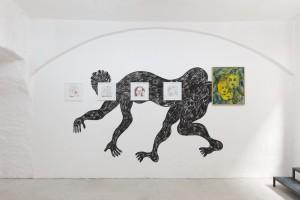 Exhibition view (Enver Hadzijaj, Rade Petrasević, Andrej Dúbravský)