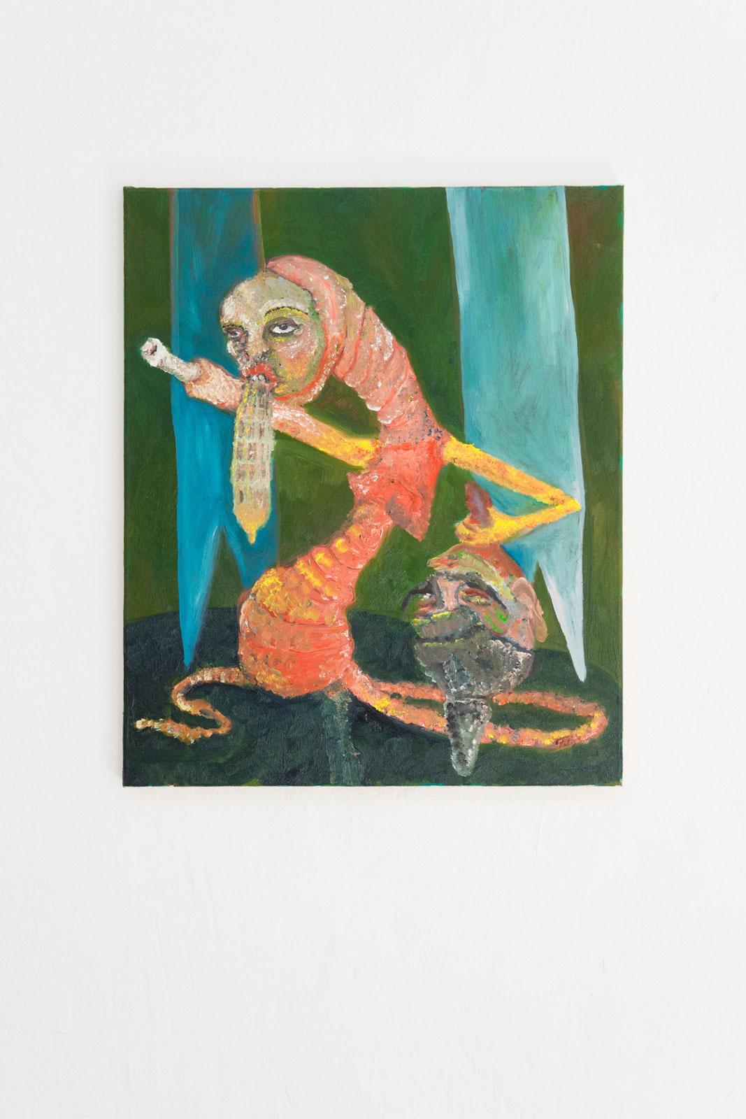Joseph Geagan, Bone Frau, 2018, Oil on canvas, 60 x 50 cm