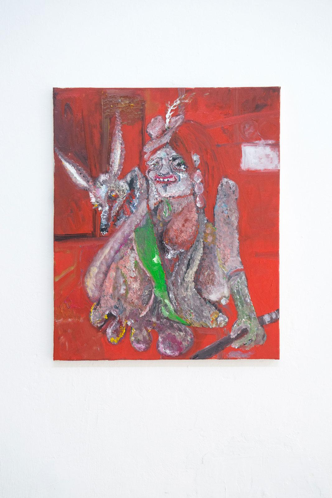Joseph Geagan, Hound of Schmutzig, 2018, Oil on canvas, 60 x 50 cm