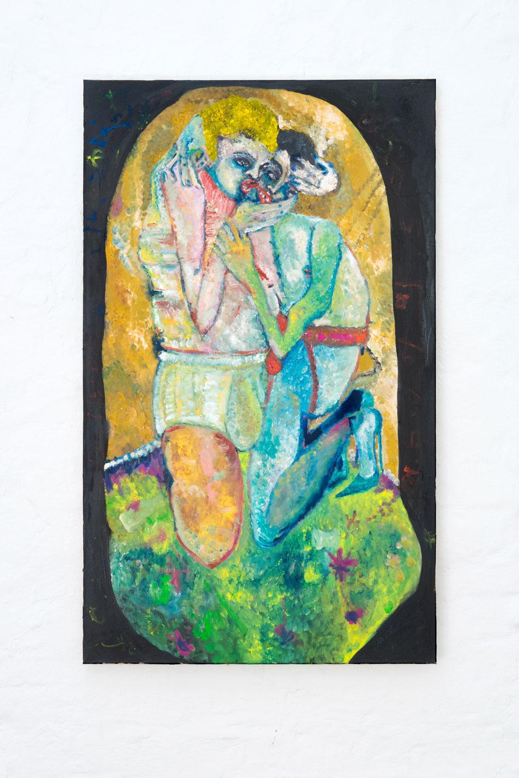 Joseph Geagan, Das Leck, 2018, Oil on canvas, 116 x 70 cm
