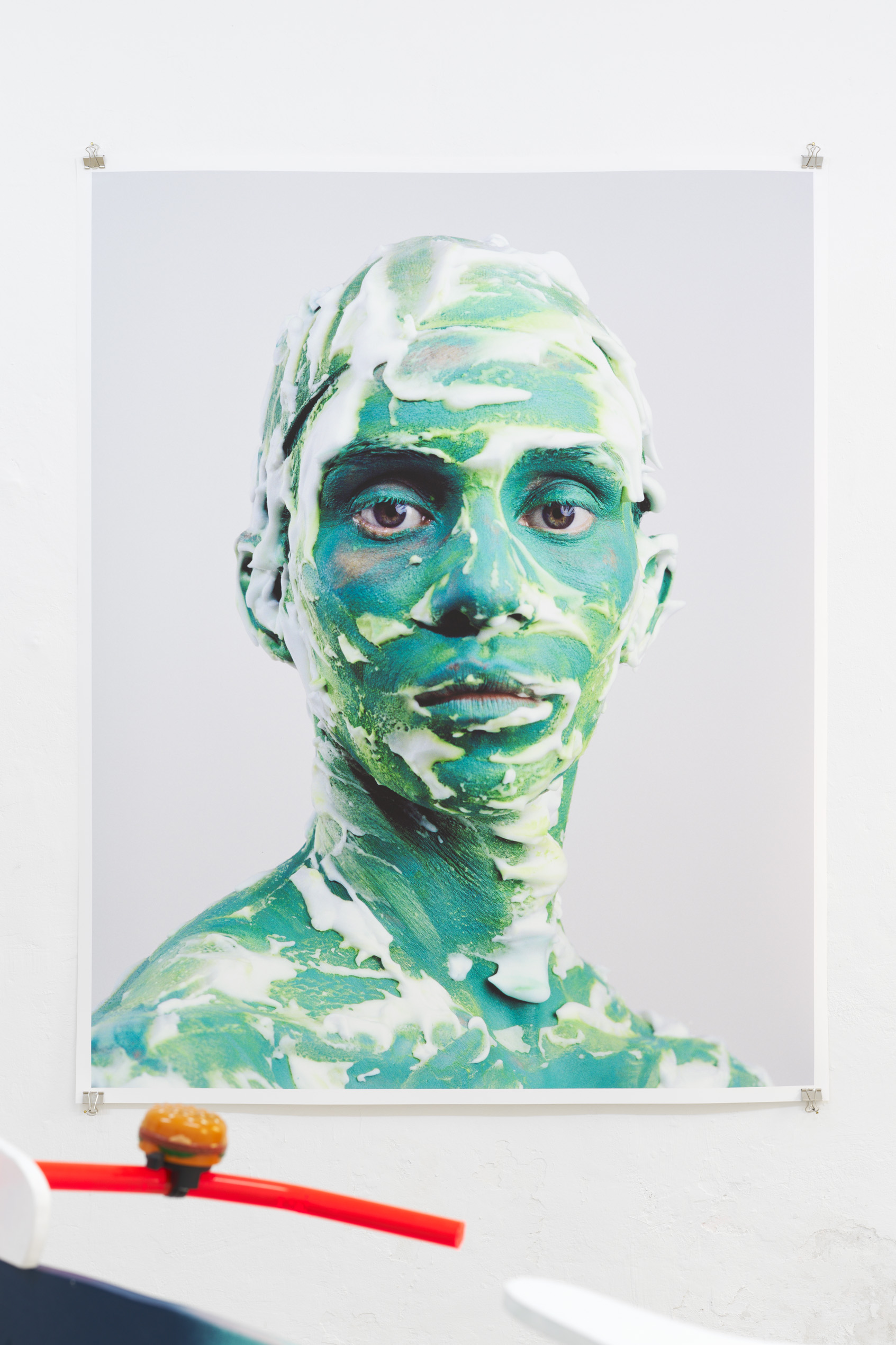 Alex De Brabant, Head #09 (Untitled), Inkjet Print on Hahnemühle Photo Rag, 150 x 120 cm