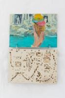 Ellinor Aurora Aasgaard and Elizabeth Ravn Lazy Life, 2019, 43 x 30 cm, Oil paint on wood, metal rings