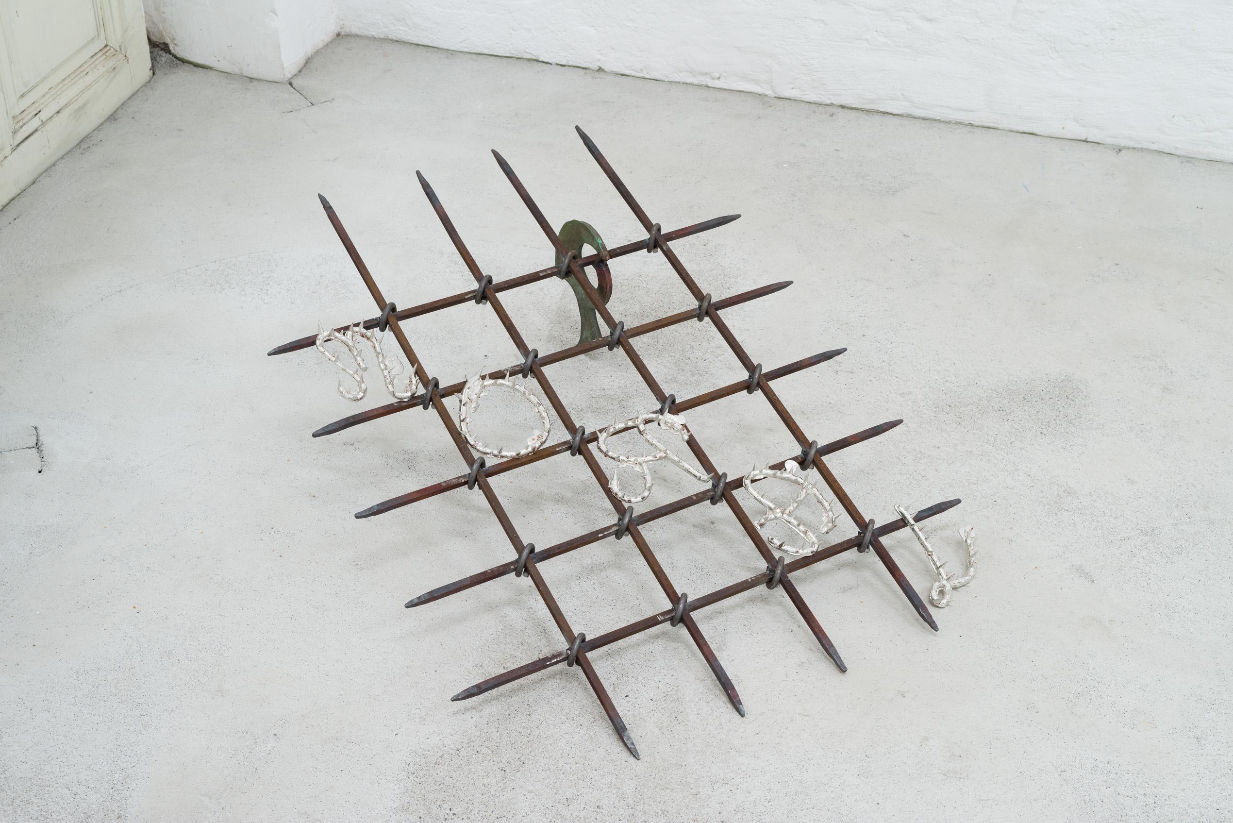 Emelie Sandström, Moral, 2018, Bronze, iron, pewter